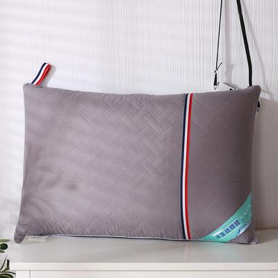 2020新款磨毛热熔水洗保健枕46*72cm/只 灰色