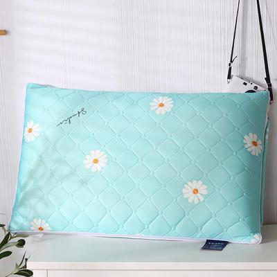 2020新款乳胶热熔水洗保健枕48*74cm/只 菊花