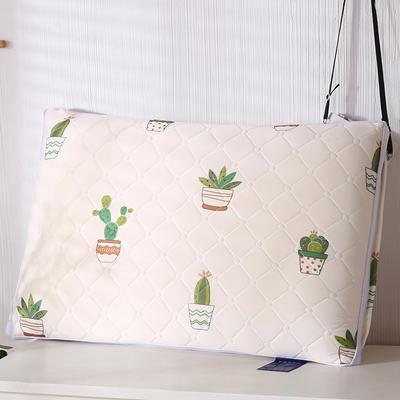 2020新款乳胶热熔水洗保健枕48*74cm/只 菠萝