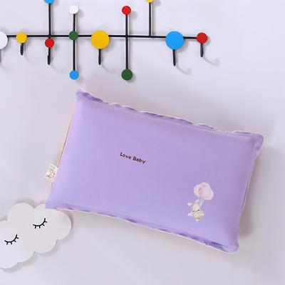 2020新款彩棉针织儿童保健枕32*50cm/只 流氓兔紫