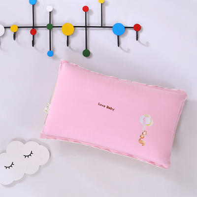 2020新款彩棉针织儿童保健枕32*50cm/只 松鼠粉