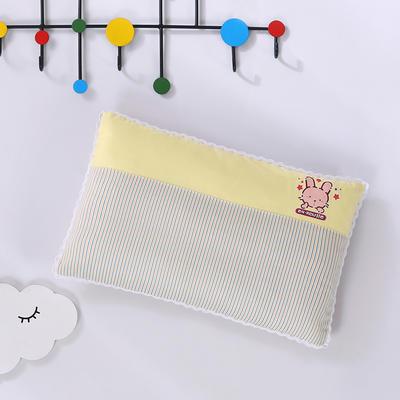 2020新款全棉拼色儿童保健枕32*50cm/只 黄兔