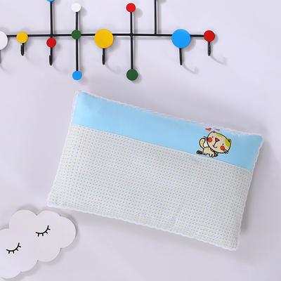 2020新款全棉拼色儿童保健枕32*50cm/只 蓝猫