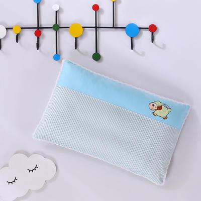 2020新款全棉拼色儿童保健枕32*50cm/只 蓝羊