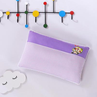 2020新款全棉拼色儿童保健枕32*50cm/只 紫猫