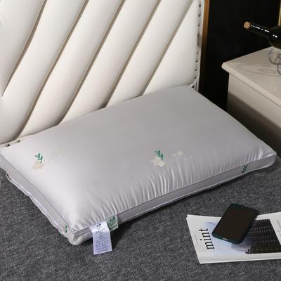 2020新款生姜热熔水洗枕枕头枕芯48*74cm/只 灰