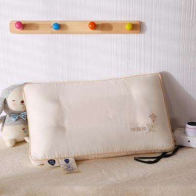 2020新款全棉板蓝根儿童羽丝定型枕枕头枕芯 图片色40*60cm/只
