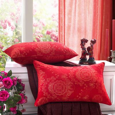 202新款磨毛婚庆舒适枕枕头枕芯45*73cm/只 图片色