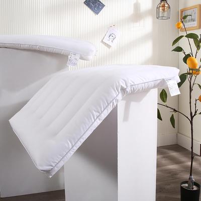 2021新款全棉纯色定型枕低枕枕头枕芯保健枕(47*72cm/个) 白色