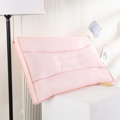 2021新款全棉立体艾草助眠定型枕保健枕枕头枕芯(48*74cm/只) 粉色
