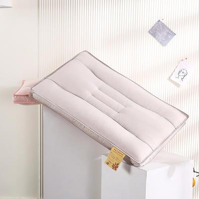 2021新款全棉立体艾草助眠定型枕保健枕枕头枕芯(48*74cm/只) 淡紫