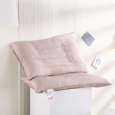 2021新款全棉生姜决明子保健枕枕头枕芯护颈枕(47*72cm/只) 粉