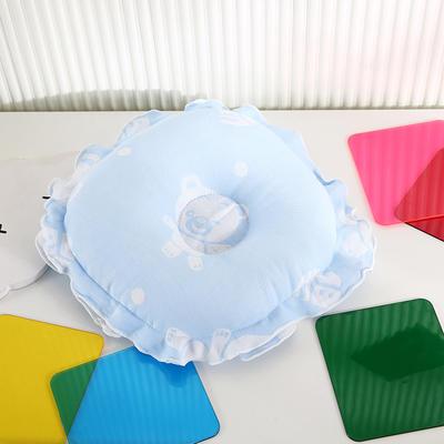 2021新款婴儿定型枕枕头枕芯(圆) 22*22cm/个 蓝色