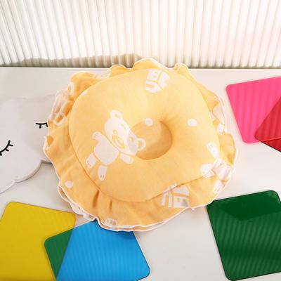 2021新款婴儿定型枕枕头枕芯(圆) 22*22cm/个 黄色