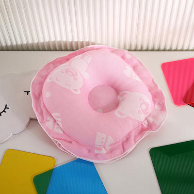 2021新款婴儿定型枕枕头枕芯(圆) 22*22cm/个 粉色