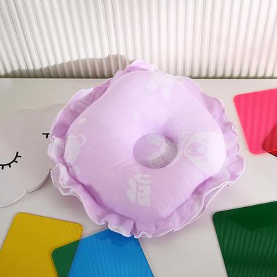 2021新款婴儿定型枕枕头枕芯(圆) 22*22cm/个 紫色