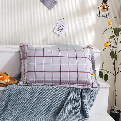 2021新款全棉月芽边波浪儿童枕枕头枕芯(40*60cm/只) 灰格调(单外套/个)