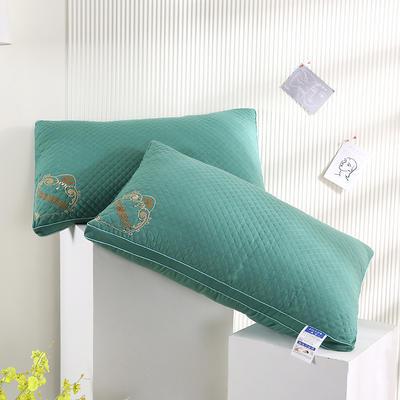 2021新款磨毛立体艾草养颜枕枕头枕芯保健枕护颈枕(48*74cm/只) 绿色