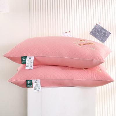 2021新款全棉单边艾草养颜枕枕头枕芯保健枕护颈枕(46*72cm/只) 粉色