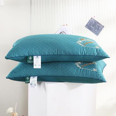 2021新款全棉单边艾草养颜枕枕头枕芯保健枕护颈枕(46*72cm/只) 绿色