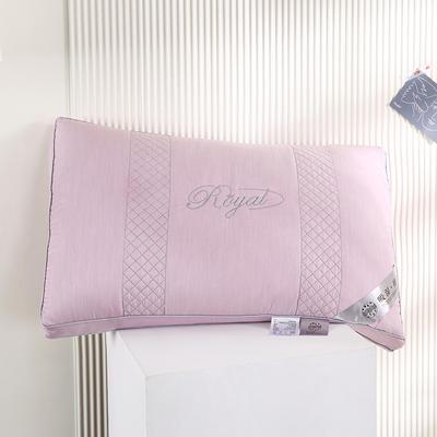 2021新款全棉立体吸汗养颜羽丝枕枕头枕芯保健枕护颈枕(48*74cm/只) 淡紫