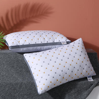 2021新款立体磨毛绗绣促销枕枕芯枕头46*70cm 白色