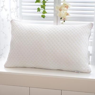 2021新款水立方羽丝枕枕芯枕头45*73cm 白色