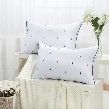 2021新款枕芯枕头红蓝鸭印花舒适枕45*73cm