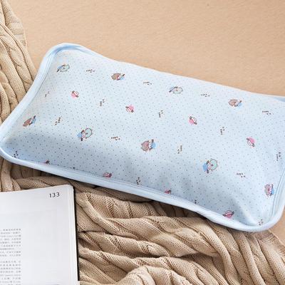 2021新款针织儿童舒棉枕 蓝色25*40cm