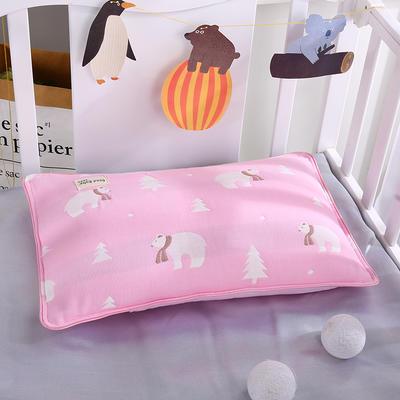 2021新款儿童纱布水洗枕枕芯枕头32*50cm 北极熊