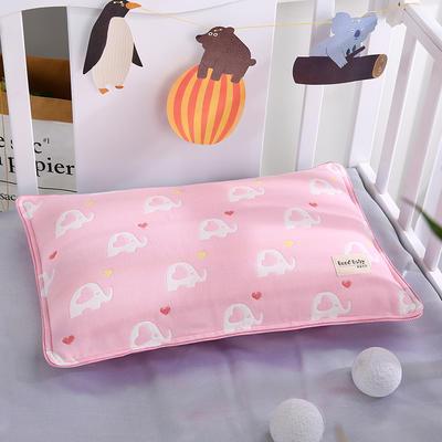 2021新款儿童纱布水洗枕枕芯枕头32*50cm 小象