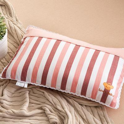 2021新款梭织儿童枕枕芯 红白条羽丝芯-32*50cm