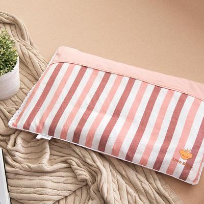 2021新款梭织儿童枕枕芯 红白条羽丝芯-40*60cm