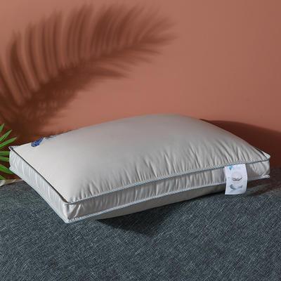 2021新款全棉高密暖心羽丝枕枕头枕芯48*74cm 灰色