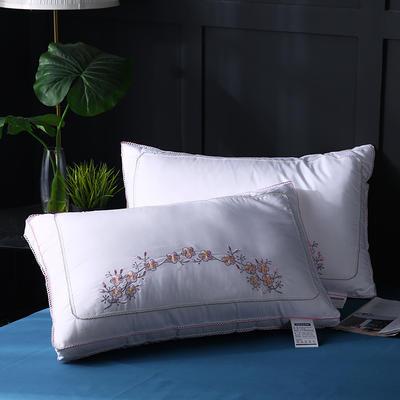 2021新款全棉立体蕾丝韩版梅花朵朵羽丝枕枕头枕芯护颈枕保健枕48*74cm 白色