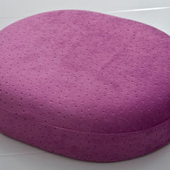 (总) 布谷 O型绒布坐垫中空理疗坐垫功能性美臀坐垫 35x45 紫色