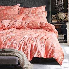布谷 丝绵贡缎提花四件套奢华床上用品 倾城之恋 1.5m(5英尺)床 倾城之恋
