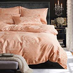 布谷 丝绵贡缎提花四件套奢华床上用品 水晶之恋象牙红 1.5m(5英尺)床 水晶之恋象牙红