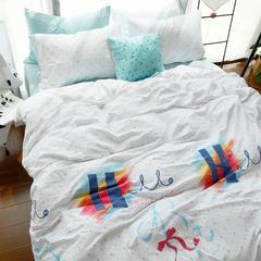 布谷 水洗棉印花四件套-爱的色彩