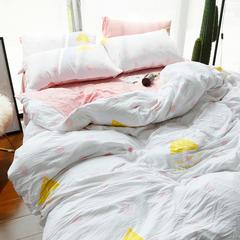 布谷 水洗棉印花四件套-阳光女孩