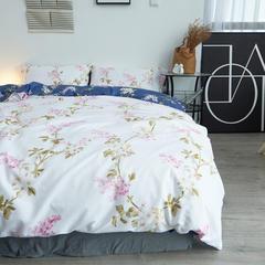 布谷 细丝磨毛四件套活性斜纹仿棉四件套 欧尔菲 1.2m(4英尺)床 欧尔菲