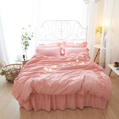 布谷 (总)水洗彩棉床裙四件套水洗色织床上用品 1.5m(5英尺)床 初曼