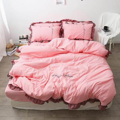 布谷 北欧风蕾丝花边简约纯色四件套 1.5m(5英尺)床 Lace 玉色