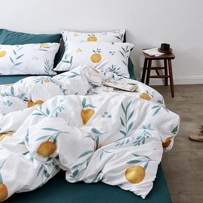 2019新款-芝麻街系列磨毛四件套 床单款1.5m(5英尺)床 大橘子