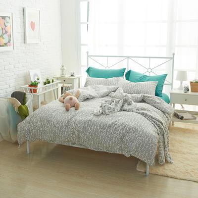 2019新款-40s13372全棉宜家印花四件套系列 床单款四件套1.8m(6英尺)床 极
