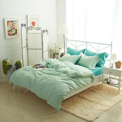 2019新款-40s13372全棉宜家印花四件套系列 床单款四件套1.8m(6英尺)床 圈