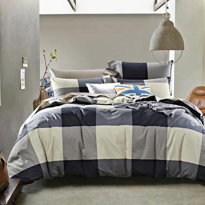 2019新款-40s13372全棉宜家印花四件套系列 床单款四件套1.5m(5英尺)床 正(夏洛特同款)
