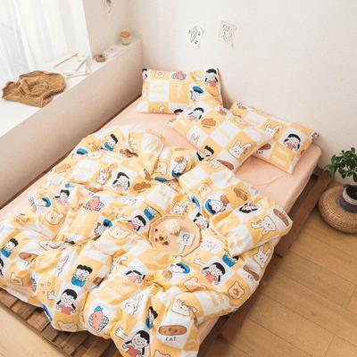 2020新款-巧克力化纤磨毛四件套 床单款四件套1.5m(5英尺)床 早安晚安