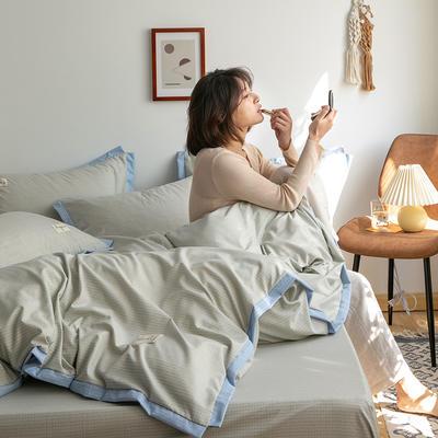 2020新款-格子系列四件套 床单款四件套1.5m(5英尺)床 绅士驼