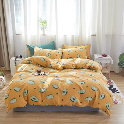 2020新款-小清新四件套 床单款三件套1.2m(4英尺)床 富得流油果